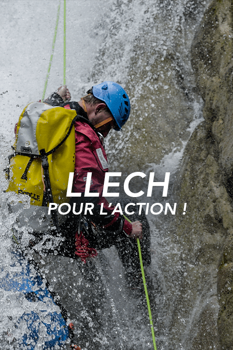 bouton llech Pyrénées canyoning