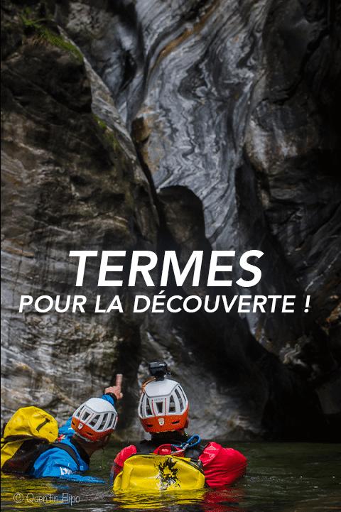 bouton termes Pyrénées canyoning