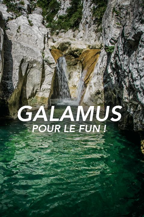 bouton galamus Pyrénées canyoning
