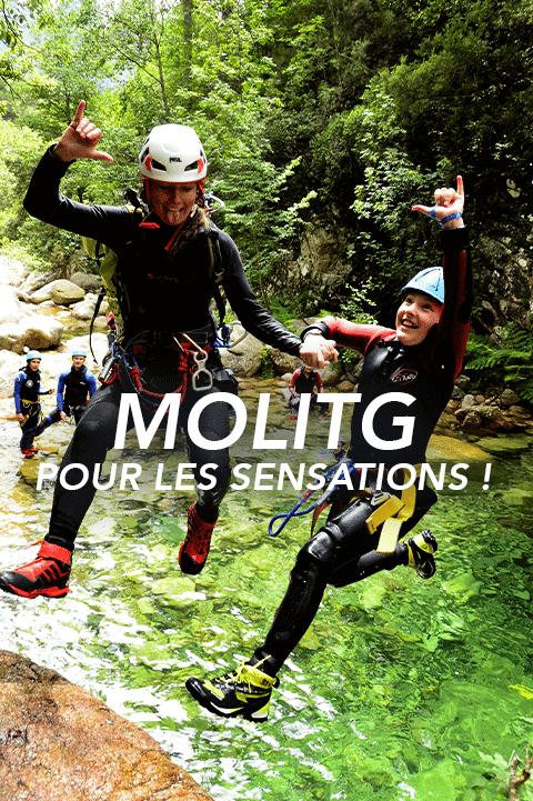 bouton molitg Pyrénées canyoning